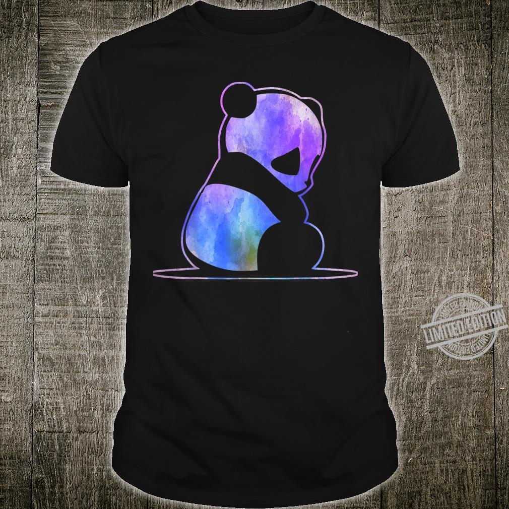 Nette Farbe Panda Niedlichen Panda Liebhaber Shirt