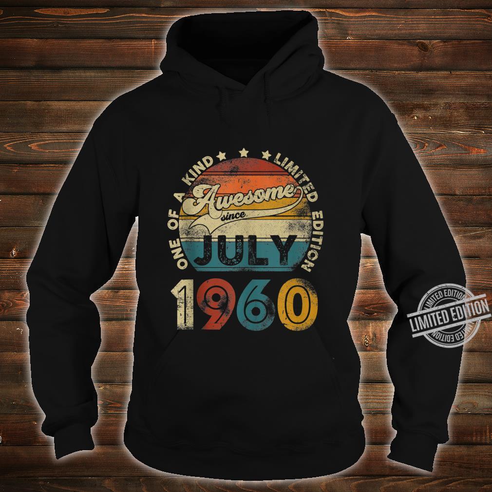 Vintage July 1960 Designs 60 Years Old 60th Birthday Shirt hoodie