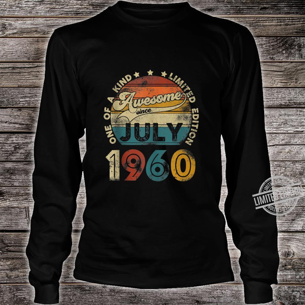 Vintage July 1960 Designs 60 Years Old 60th Birthday Shirt long sleeved