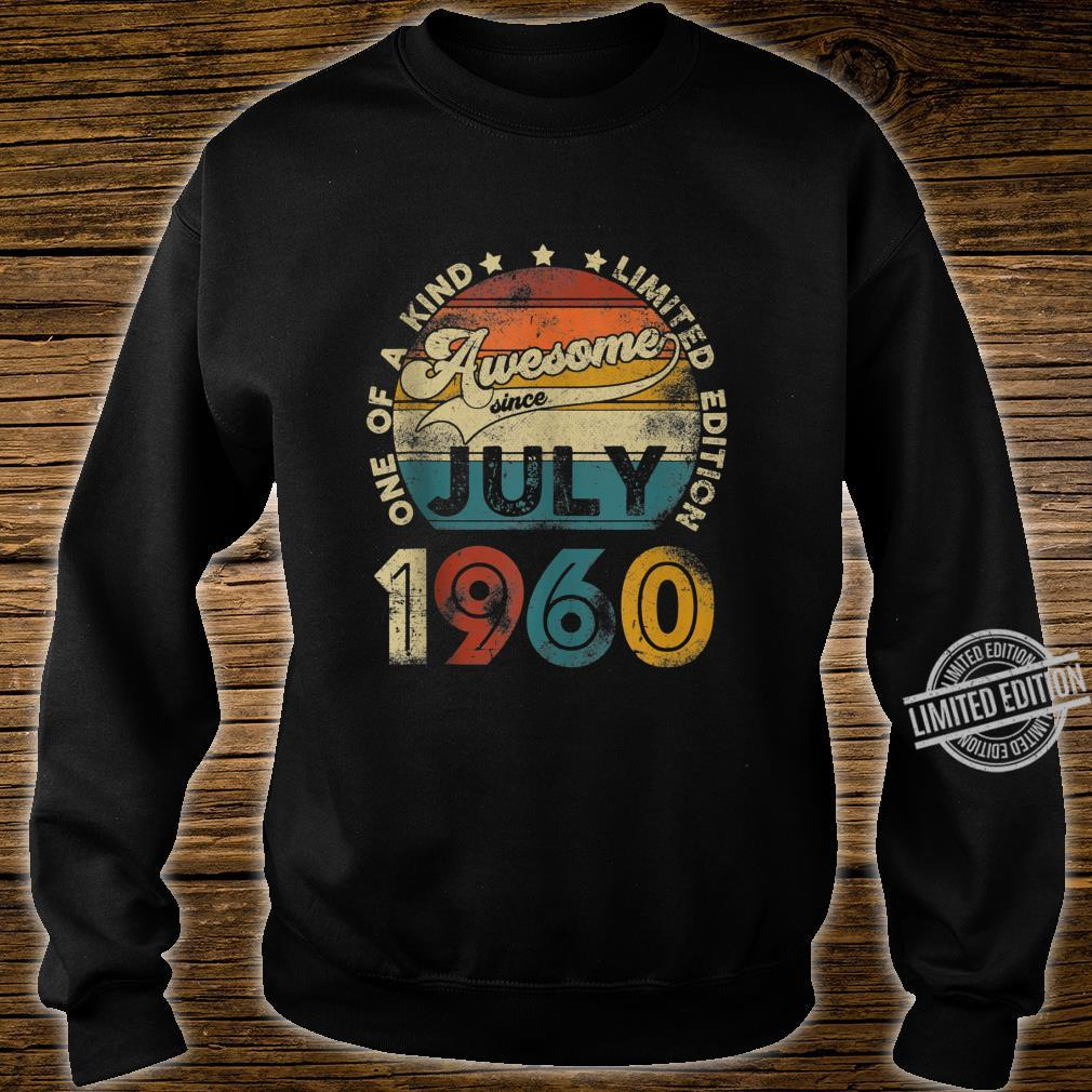 Vintage July 1960 Designs 60 Years Old 60th Birthday Shirt sweater
