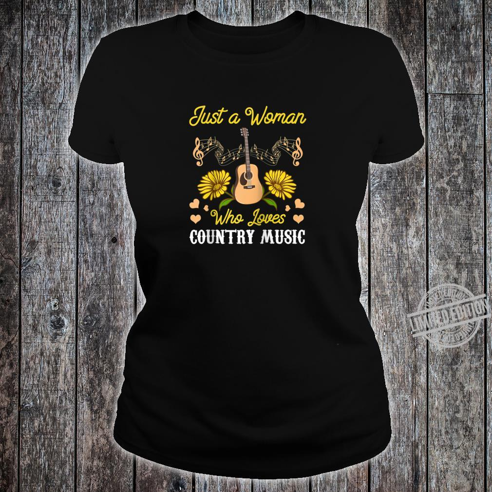 Vintage Just A Who Loves Country Music Relax Guitar Shirt ladies tee