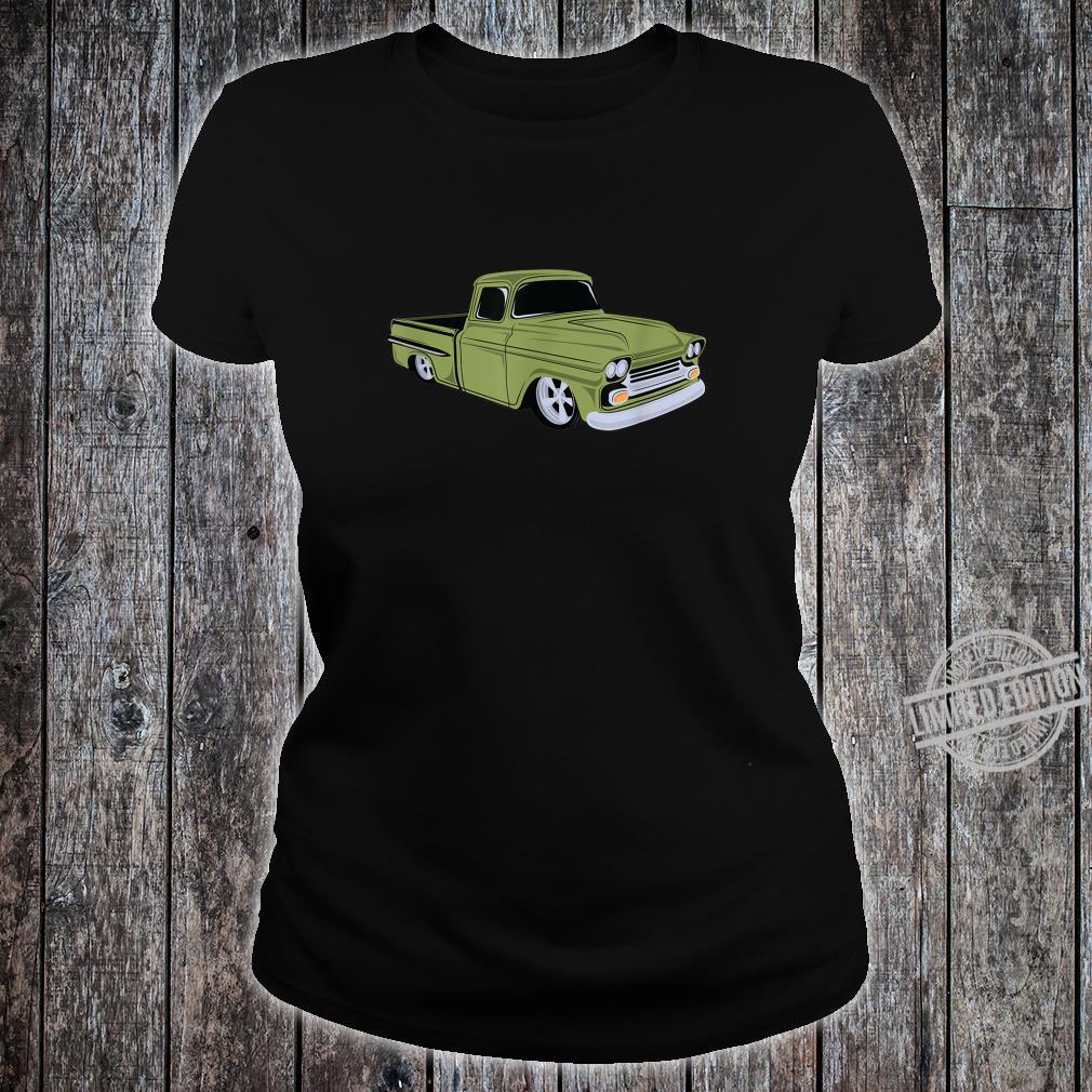 Vintage Lowrider Hot Rod Truck Shirt ladies tee