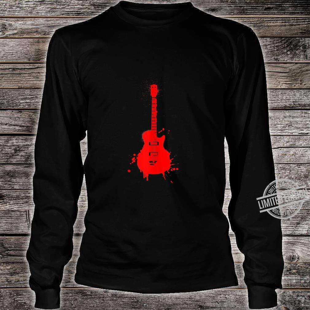 Vintage Musician Electric Guitar Music Band Guitarist Shirt long sleeved