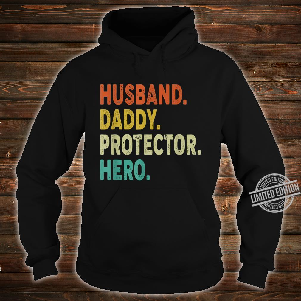 Vintage Retro Husband Daddy Protector Hero Shirt Fathers Day Shirt hoodie