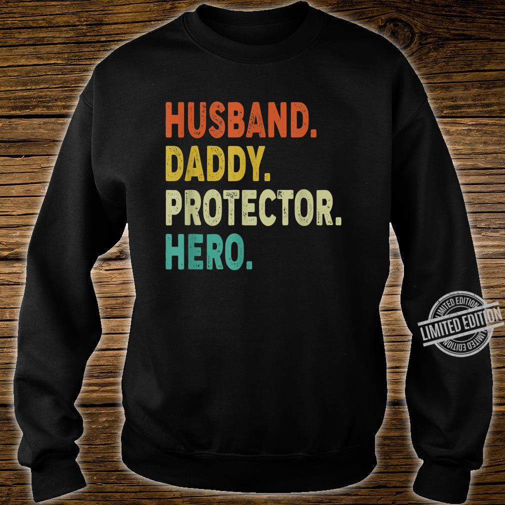 Vintage Retro Husband Daddy Protector Hero Shirt Fathers Day Shirt sweater