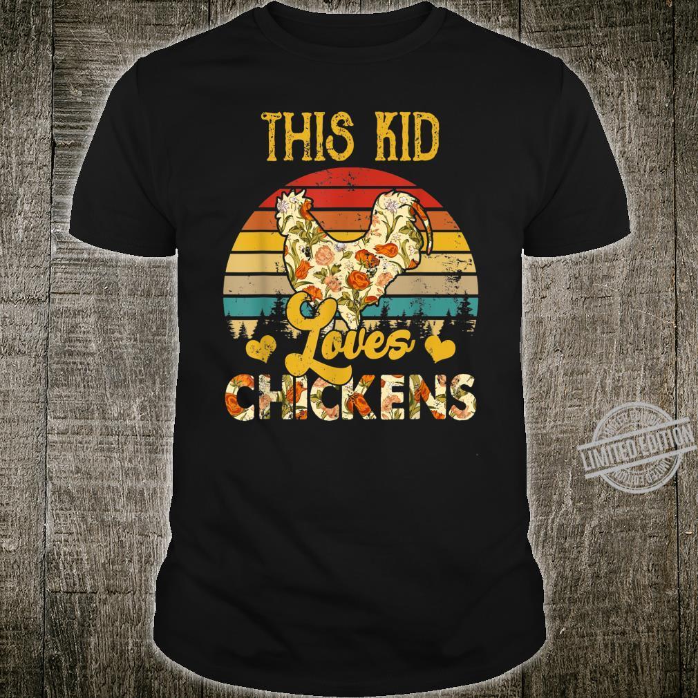 Vintage Retro This Kid Loves Chicken Floral Chicken Shirt