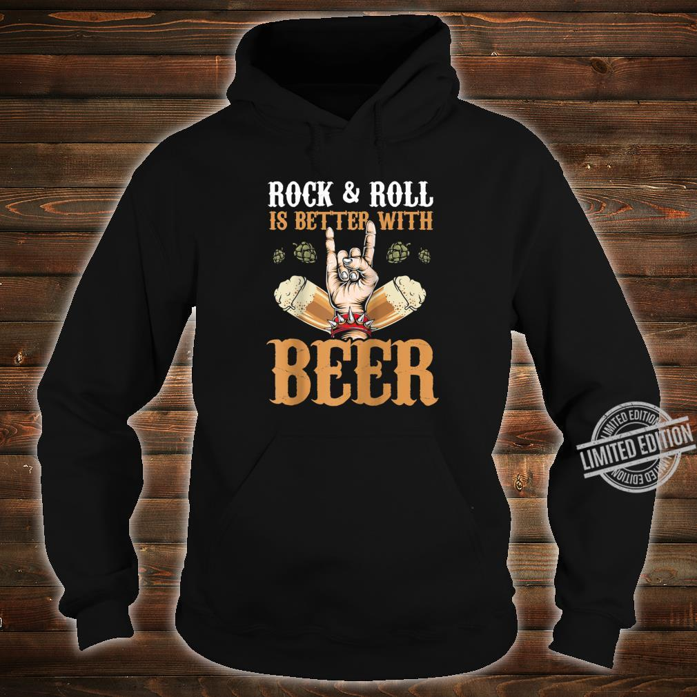 Vintage Rock And Roll Is Better With Beer Music Drinker Shirt hoodie