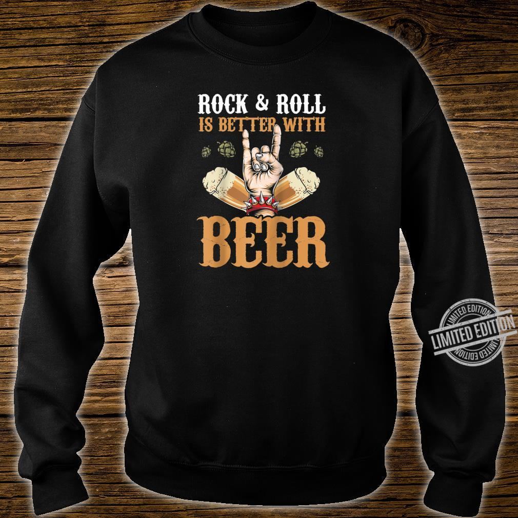 Vintage Rock And Roll Is Better With Beer Music Drinker Shirt sweater