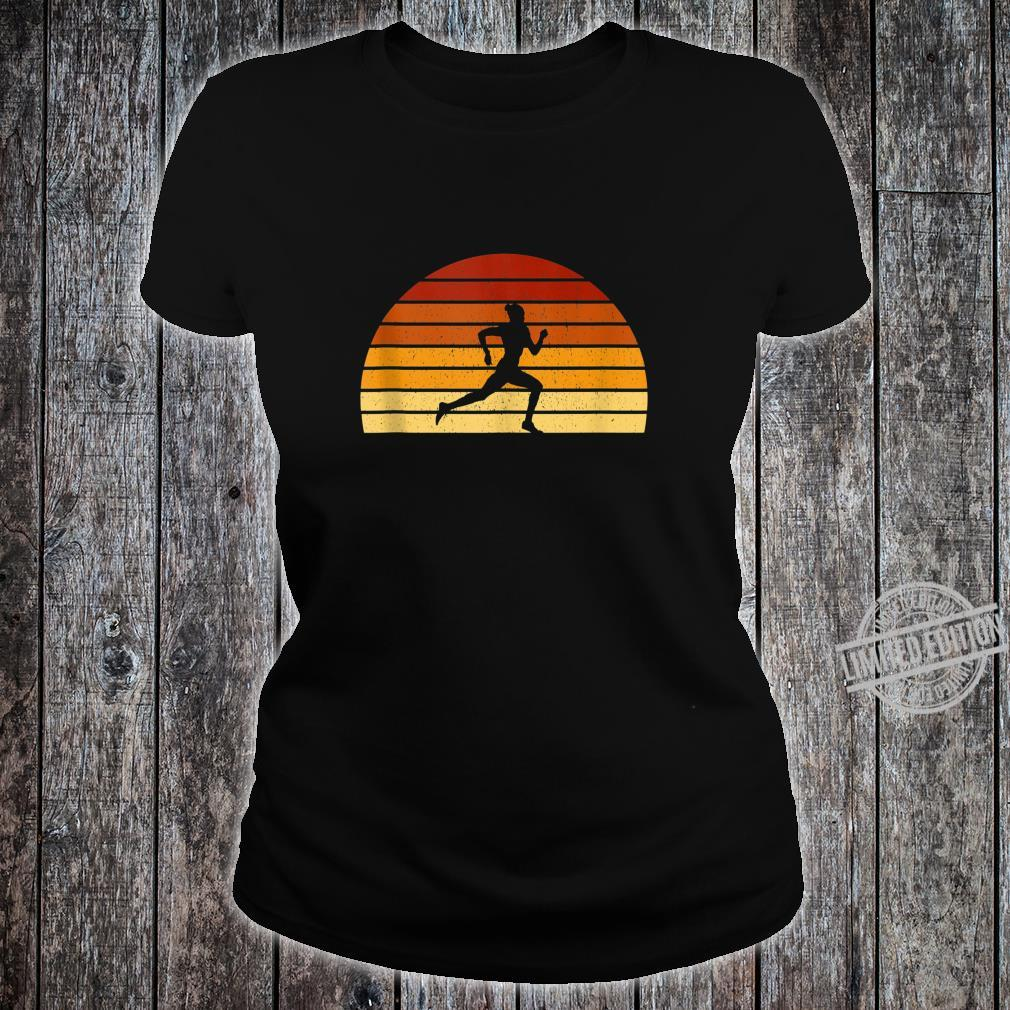 Vintage Sunset Running For Runners Shirt ladies tee
