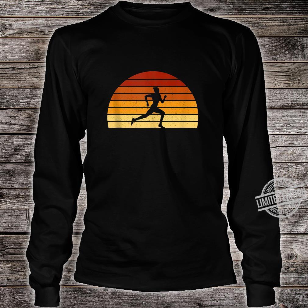 Vintage Sunset Running For Runners Shirt long sleeved