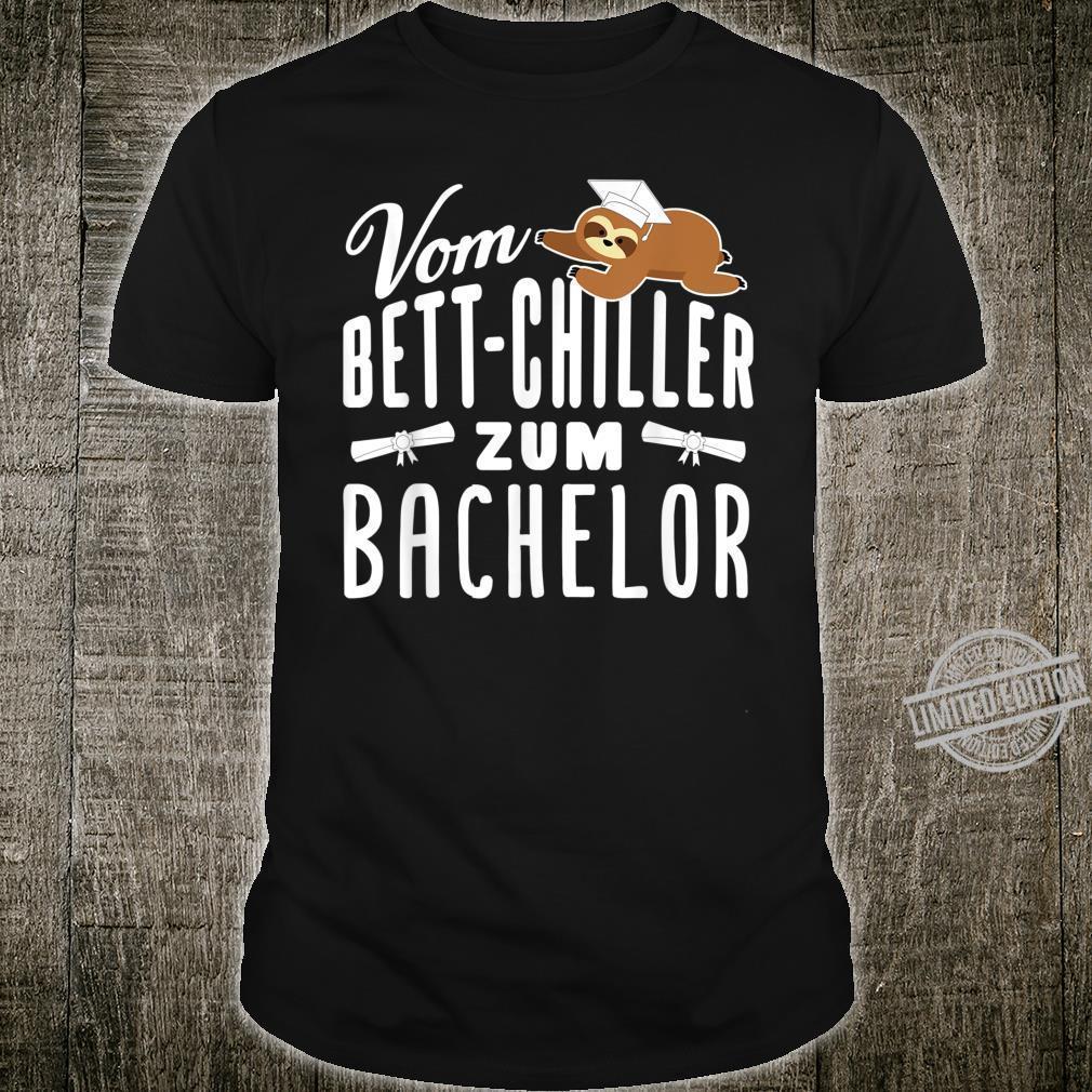 Vom BettChiller zum Bachelor lustiges Faultier Geschenk Shirt