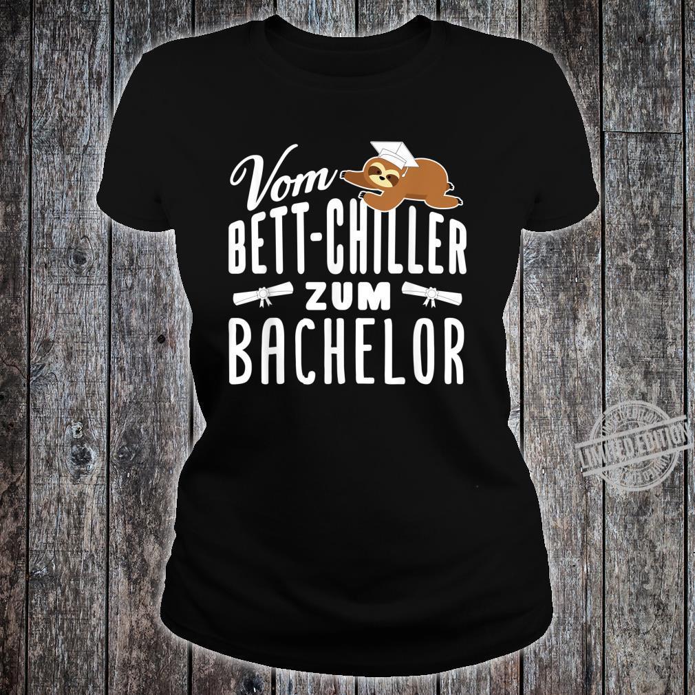 Vom BettChiller zum Bachelor lustiges Faultier Geschenk Shirt ladies tee