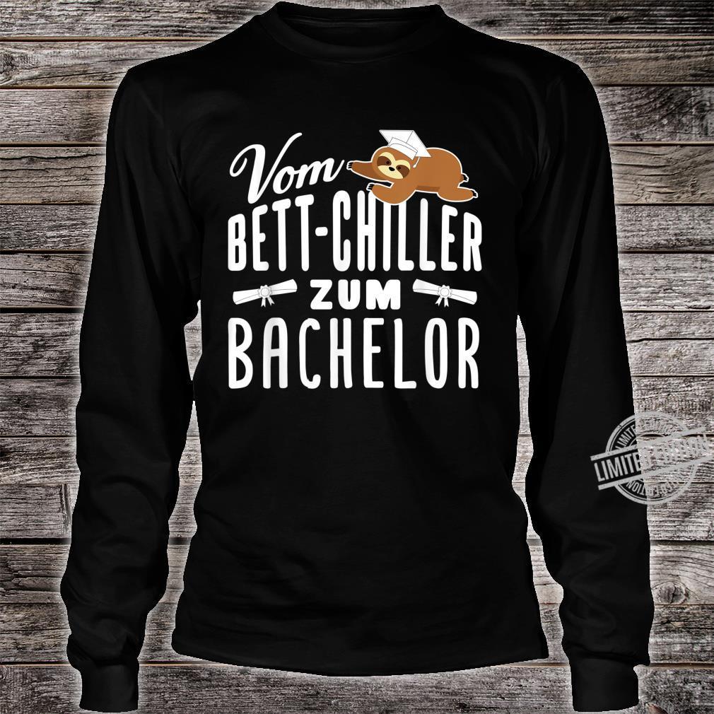 Vom BettChiller zum Bachelor lustiges Faultier Geschenk Shirt long sleeved