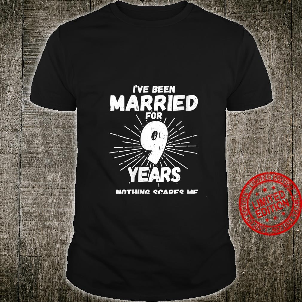 Womens Couples Married 9 Years 9th Wedding Anniversary Shirt