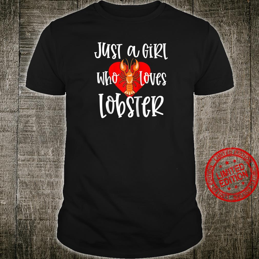 Womens Lobster Just A Girl Maine Seafood Festival Shirt