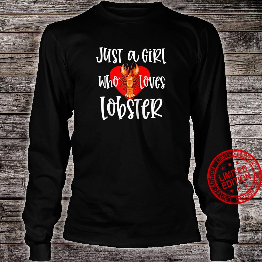 Womens Lobster Just A Girl Maine Seafood Festival Shirt long sleeved