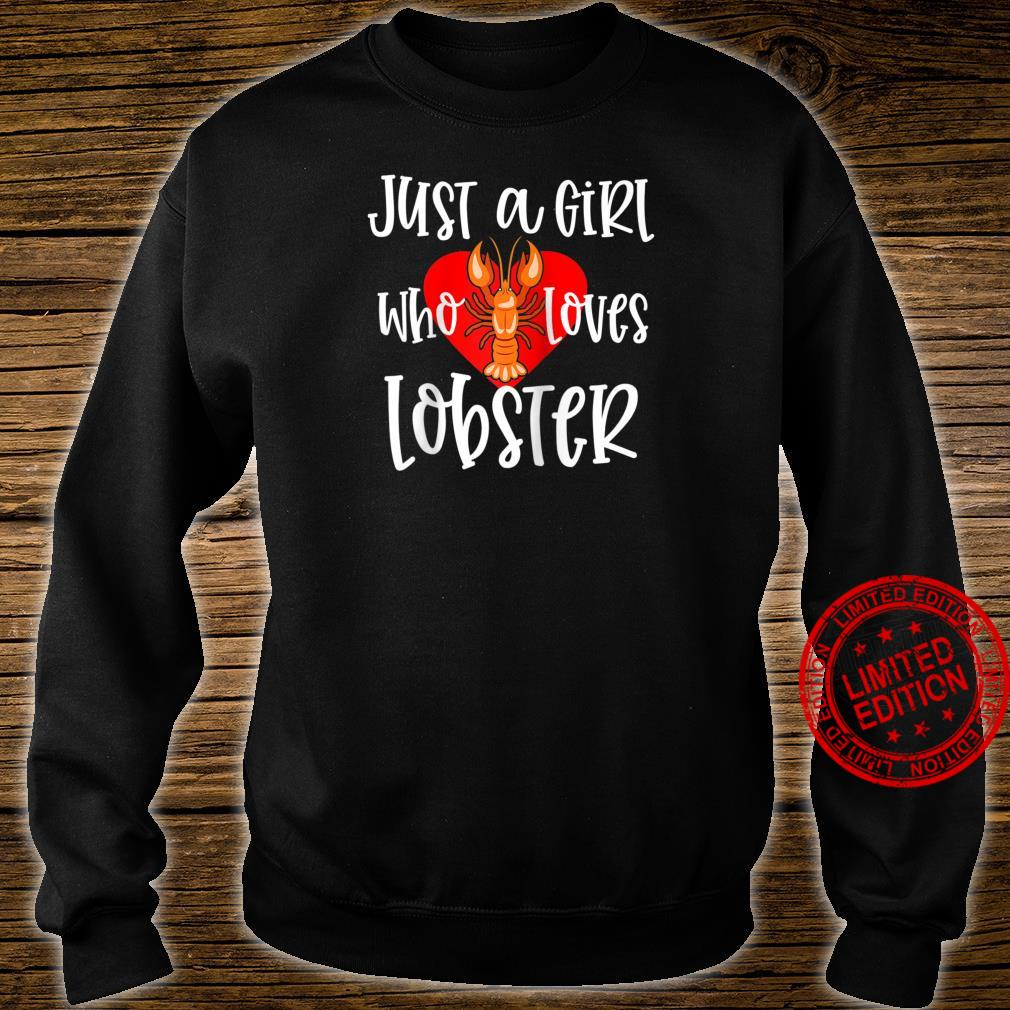 Womens Lobster Just A Girl Maine Seafood Festival Shirt sweater